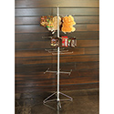 4-Tier Economy Silver Spinner Rack