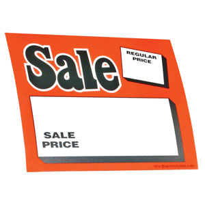 Orange Sale Price Retail Cards