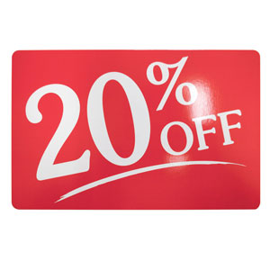 20% Off Retail Sale Sign