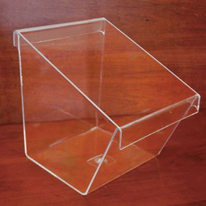 Clear Plastic Countertop Display Buckets