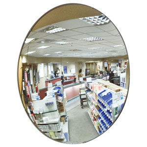 Anti-Theft Round Convex Security Mirrors
