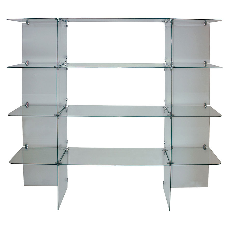 4-Shelf Glass Wall Display   Retail Showcases   By Grand + Benedicts ...