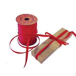 Imperial Red Colored Raffia Ribbons
