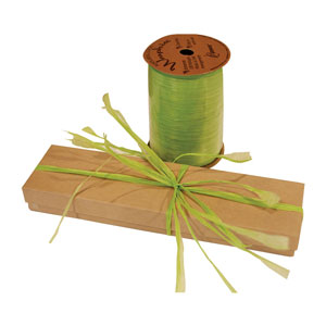 Jungle Green Colored Raffia Ribbons