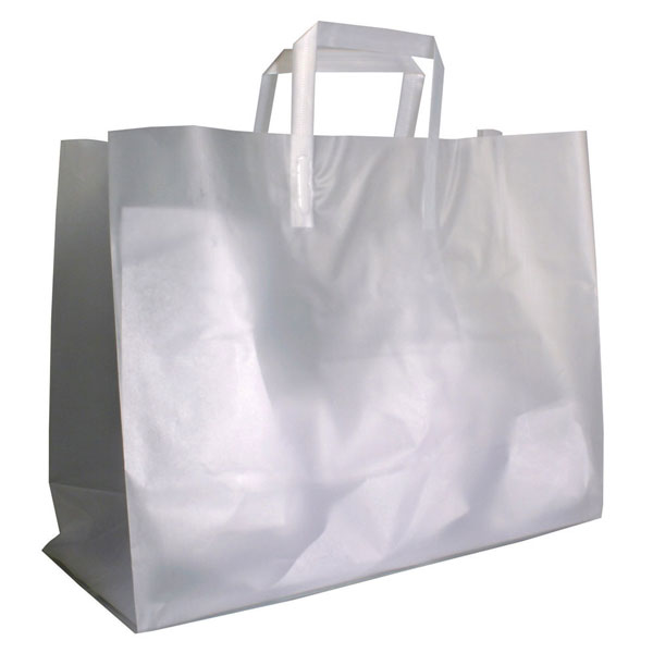 large frosted high density plastic bags retail shopping bags and gift boxes by grand. Black Bedroom Furniture Sets. Home Design Ideas