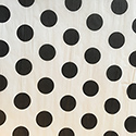 Black Polka Dot Printed Wrapping Tissue
