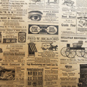 Modern Times Newsprint Printed Wrapping Tissue