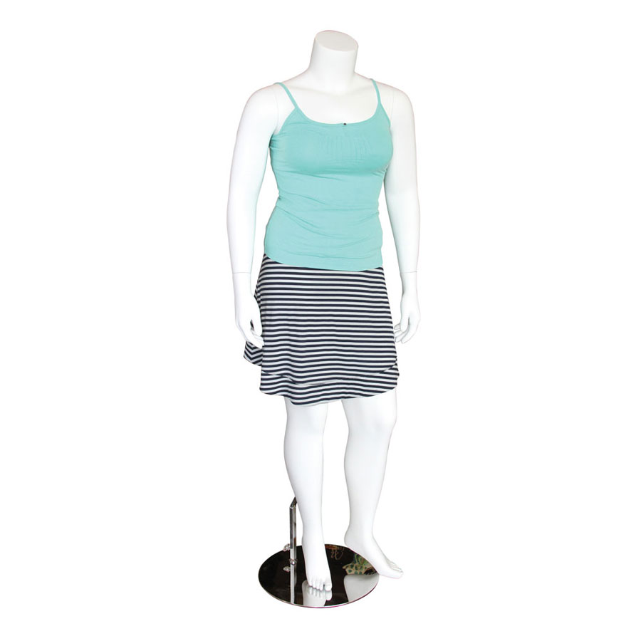 White Headless Plus Size Mannequin With Magnetic Arms
