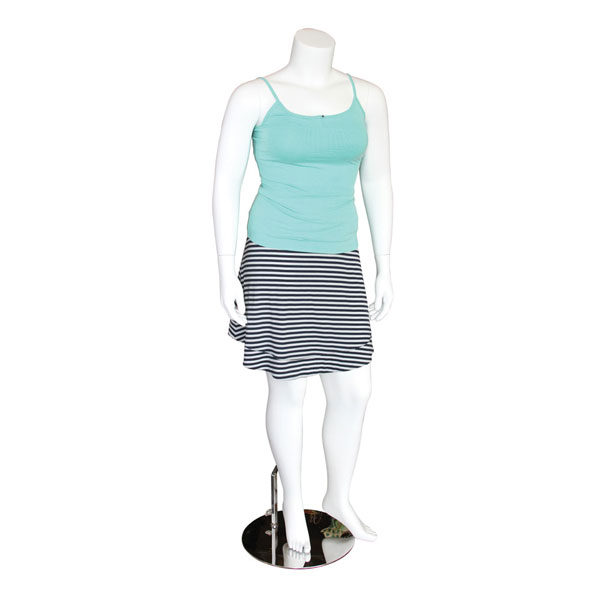White Plus-Size Mannequin with Magnetic Arms