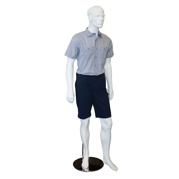 White Male Fiberglass Mannequin with Magnetic Arms