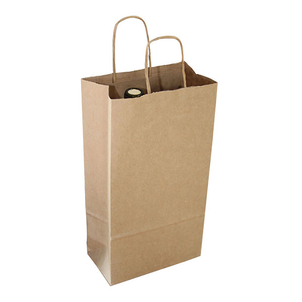 Single Bottle Wine Kraft Shopping Bag