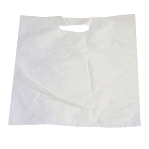 White Die-Cut Plastic Handle Bags