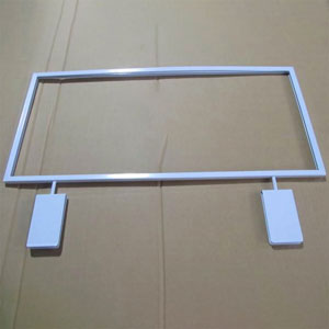 10 in.  x 22 in.  Grid Topper Sign Holder - White