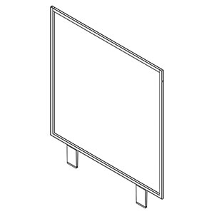 "24"" X 24"" White Grid Top Sign Holder (HOLES)"