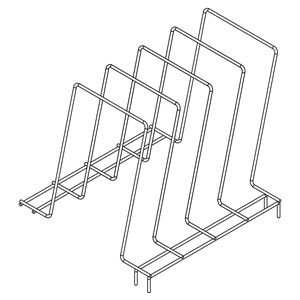 The 10 in. X 10 in. 4 Compartment Plate Rack