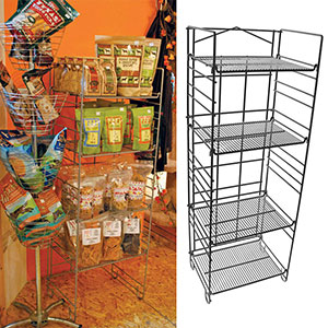 4-Shelf Merchandising Rack