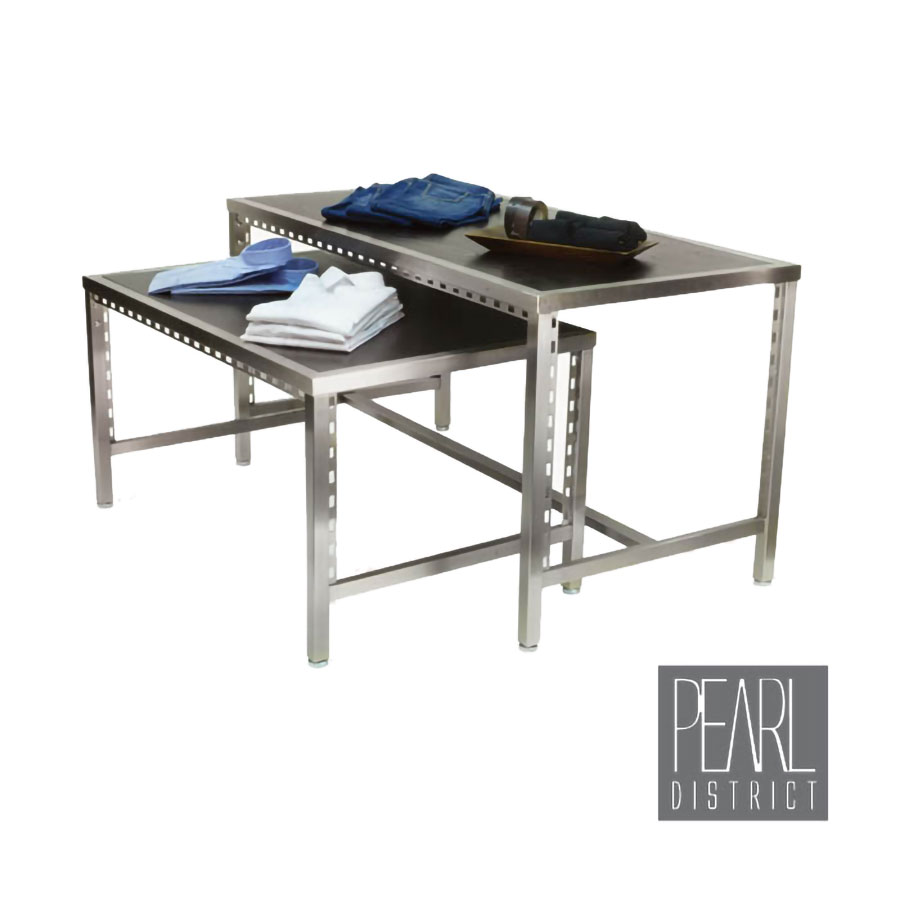 Pearl district nesting display tables retail apparel