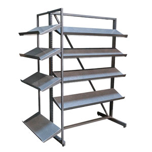 Perforated Shelf Shoe Merchandiser