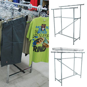 Double Bar Clothing Display Rack