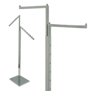 2-Way Apparel Racks - Square Arms
