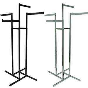 4-Way Rack with Rectangular Straight Arms