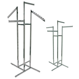 4-Way Apparel Racks - Rectangular Arms
