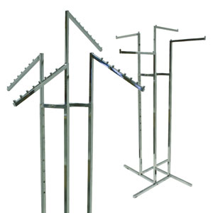 4-Way Apparel Racks - Square Arms