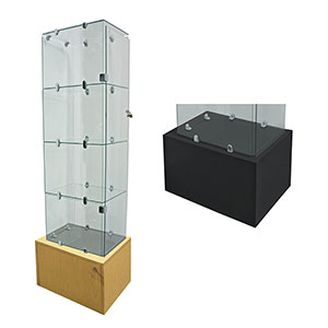 4-Shelf Security Glass Tower