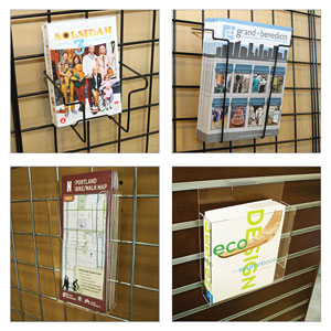 Gridwall Literature Holders