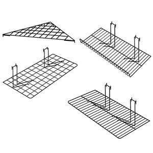 Gridwall Shelves