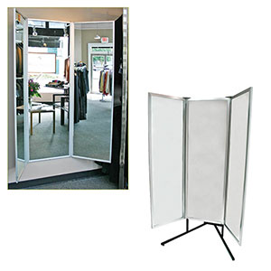 Deluxe 3-Way Full Body Glass Mirror
