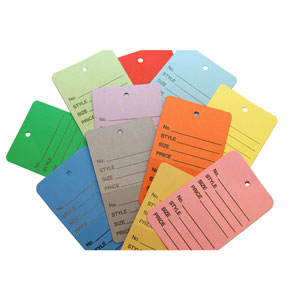 Small Colored Unstrung Price Tags