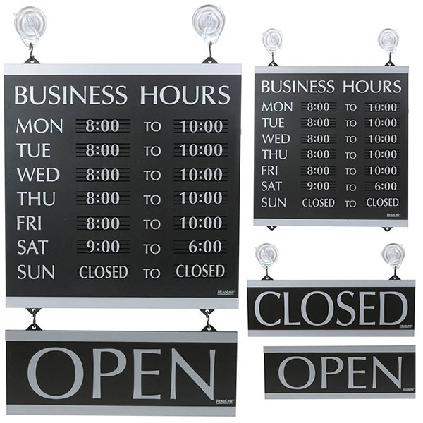 Professional Business Opening Hours Sign