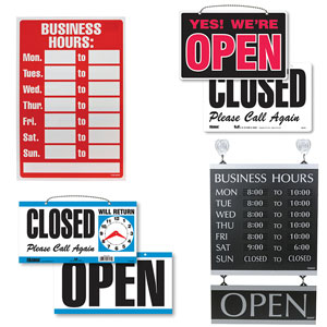 Open & Closed Retail Signs