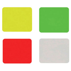 Rectangular Fluorescent Promotional Labels