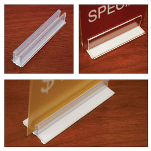 Adhesive Strip Sign Holders