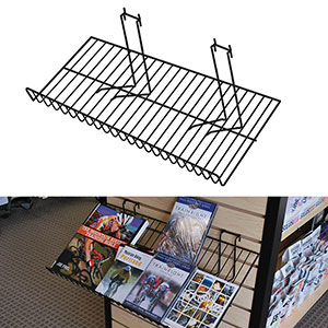 Downslope Slatwall Wire Display Shelf